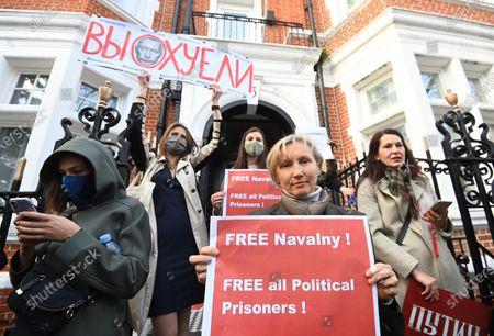Editorial photo of Alexei Navalny protest in London, United Kingdom - 21 Apr 2021