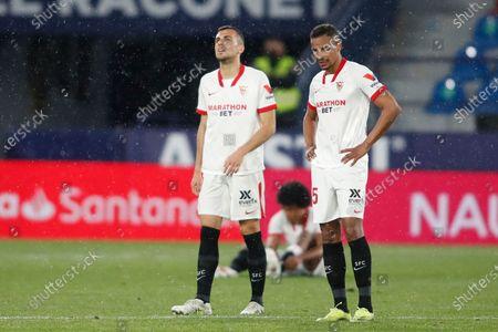 Fernando Francisco Reges and Joan Jordan Foyth of Sevilla FC