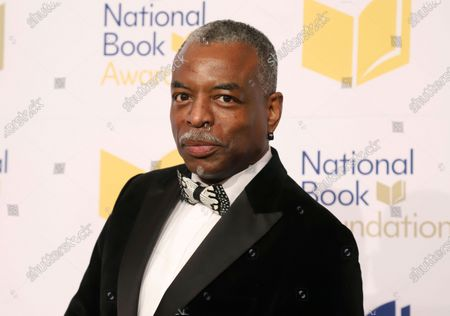 """LeVar Burton attends the 70th National Book Awards ceremony in New York on . Burton will serve as guest host on the game show """"Jeopardy"""