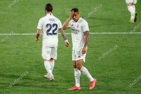 Mariano Diaz and Francisco Roman Alarcon Isco of Real Madrid