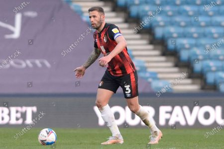 Steve Cook of AFC Bournemouth in action during the Sky Bet Championship, Championship match between Millwall and AFC Bournemouth at The Den in London - 21st April 2021