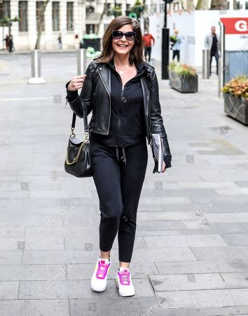 Stock Image of Lucy Horobin seen arriving for her Heart Dance show at the Global Radio Studios