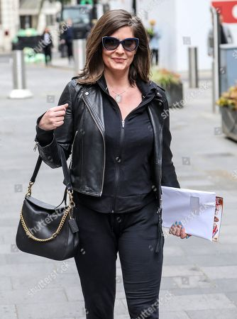 Lucy Horobin seen arriving for her Heart Dance show at the Global Radio Studios