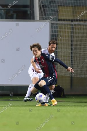 "Andreas Skov Olsen (Bologna)Cristian Daniel Ansaldi (Torino)        during the Italian ""Serie A"" match between Bologna 1-1 Torino  at  Renato Dall Ara Stadium in Bologna , Italy."
