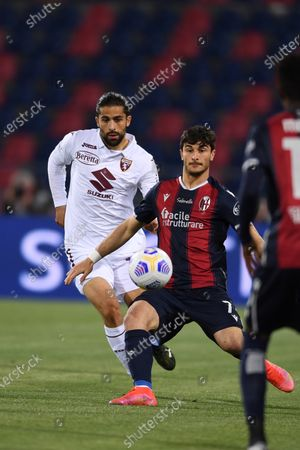 "Riccardo Orsolini (Bologna)Ricardo Rodriguez (Torino)        during the Italian ""Serie A"" match between Bologna 1-1 Torino  at  Renato Dall Ara Stadium in Bologna , Italy."