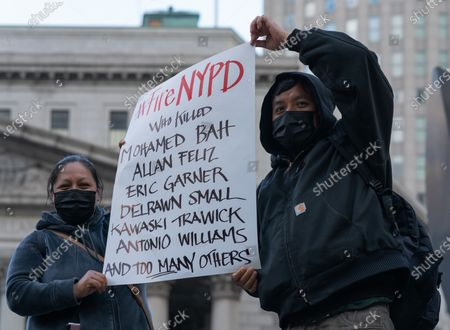 Hold NYPD accountable protest, New York