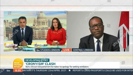 Editorial image of 'Good Morning Britain' TV Show, London, UK - 22 Apr 2021