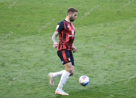 Steve Cook of AFC Bournemouth during The Sky Bet Championship between Millwall and AFC Bournemouth at The Den Stadium, London on  21st April, 2021