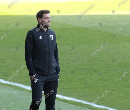 Jonathan Woodgate manager  of AFC Bournemouth spring warm up  during The Sky Bet Championship between Millwall and AFC Bournemouth at The Den Stadium, London on  21st April, 2021