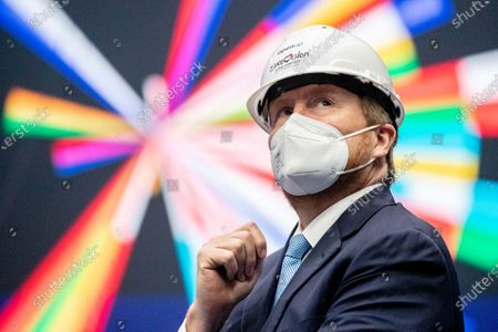 King Willem-Alexander visits location of the Eurovision Song Contest, Rotterdam
