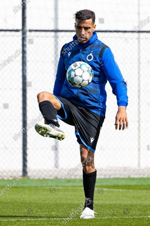 Club's Nabil Dirar pictured in action during a training session of Jupiler Pro League team Club Brugge, Thursday 22 April 2021 in Brugge, ahead of the play-off of the 'Jupiler Pro League' Belgian soccer championship.