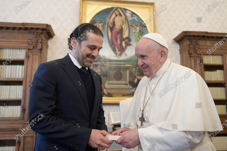Pope Francis receives in audience Mr. Saad Hariri, Prime Minister-designate of Lebanon at the Vatican