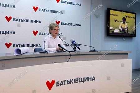 Editorial image of News conference of Batkivshchyna leader Yulia Tymoshenko, Kyiv, Ukraine - 22 Apr 2021