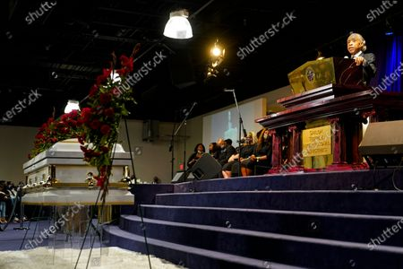Rev. Al Sharpton eulogies Daunte Wright during funeral services at Shiloh Temple International Ministries in Minneapolis, . Wright, 20, was fatally shot by a Brooklyn Center, Minn., police officer during a traffic stop