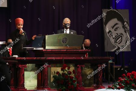 Ilhan Omar and Reverend Al Sharpton