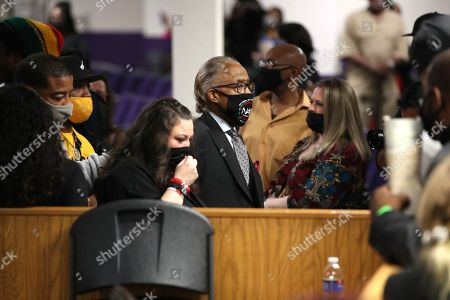 Katie Wright and Reverend Al Sharpton