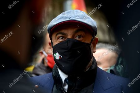 Editorial photo of Demonstration to ask for the reintegration of Riccardo Cristello, Rome, Italy - 22 Apr 2021