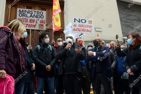Stock Picture of The demonstrators ask to be received by Minister Giancarlo Giorgetti