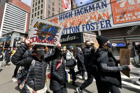 Editorial picture of March on Broadway, New York, USA - 22 Apr 2021