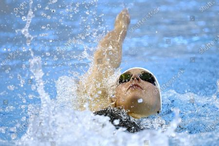 Stock Picture of Three-times olympic winner Katinka Hosszu of Hungary in action during women's 200 metres medley during the Helsinki Swim Meet competition in Helsinki, Finland on Thursday, 22nd April, 2021.