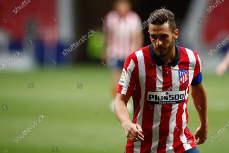 "Jorge Resurreccion ""Koke"" of Atletico de Madrid looks on during the spanish league, La Liga, football match played between Atletico de Madrid and SD Huesca at Wanda Metropolitano stadium on April 22, 2021, in Madrid, Spain."
