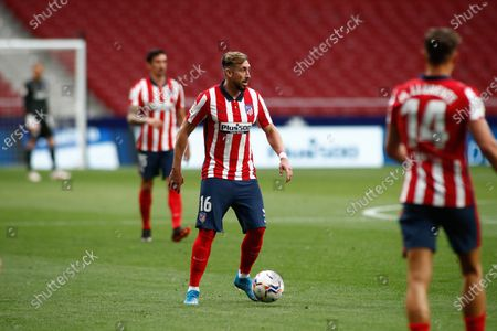 Hector Herrera of Atletico de Madrid in action during the spanish league, La Liga, football match played between Atletico de Madrid and SD Huesca at Wanda Metropolitano stadium on April 22, 2021, in Madrid, Spain.