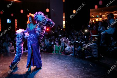 Tempest Storm, an 80-year-old burlesque dancer, performs during the Burlesque Hall of Fame's annual All-Star Burlesque Weekend held at the Palms hotel and casino in Las Vegas. Tempest Storm, the legendary burlesque star who blazed a trail for strip-tease artists for more than a half-century, died, at her Las Vegas apartment, her longtime friend, confidant and business partner Harvey Robbins, told the Las Vegas Review-Journal. She was 93