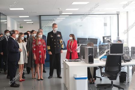 Editorial photo of Spanish Royals visit to Navantia Cartagena and launching ceremony of the S-81 Submarine 'Isaac Peral', Cartagena, Spain - 22 Apr 2021