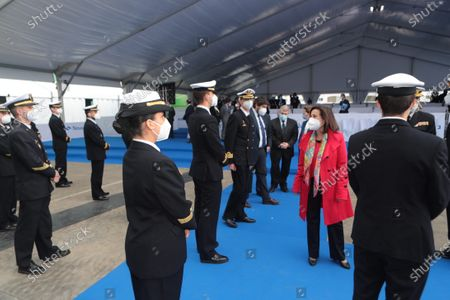 Editorial picture of Spanish Royals visit to Navantia Cartagena and launching ceremony of the S-81 Submarine 'Isaac Peral', Cartagena, Spain - 22 Apr 2021