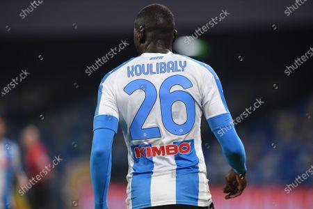 Kalidou Koulibaly of SSC Napoli during the Serie A match between SSC Napoli and SS Lazio at Stadio Diego Armando Maradona Naples Italy on 22 April 2021.