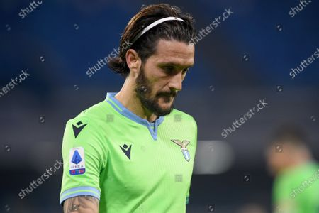 Stock Image of Luis Alberto of SS Lazio during the Serie A match between SSC Napoli and SS Lazio at Stadio Diego Armando Maradona Naples Italy on 22 April 2021.