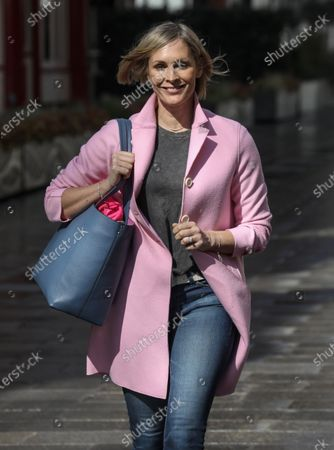 Jenni Falconer seen departing from her Smooth FM show at the Global Radio Studios