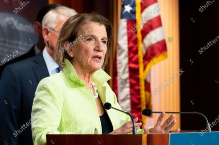 Stock Photo of U.S. Senator Shelley Moore Capito (R-WV) speaks at a press conference about the introduction of a Republican infrastructure proposal.