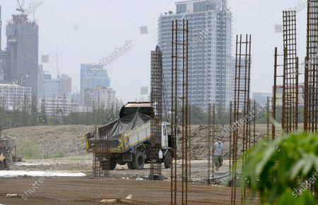 Editorial picture of The Royal Bangkok Turf Club under construction in Bangkok, Thailand.