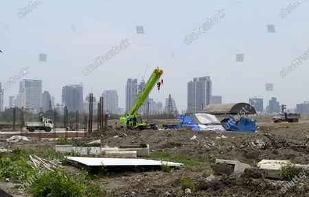Editorial image of The Royal Bangkok Turf Club under construction in Bangkok, Thailand.