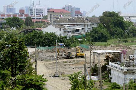 Editorial photo of The Royal Bangkok Turf Club under construction in Bangkok, Thailand.
