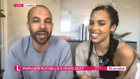 Stock Image of Marvin Humes and Rochelle Humes