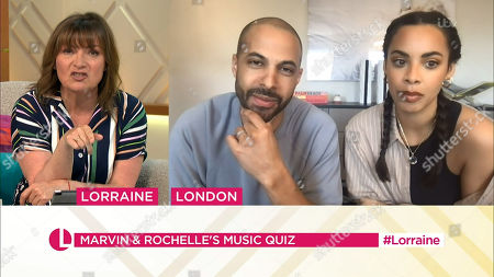 Stock Picture of Lorraine Kelly, Marvin Humes and Rochelle Humes