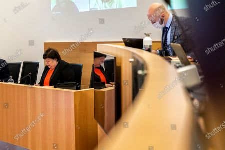 Stock Image of Former healthcare minister Maggie De Block of Open Vld pictured during a session of the special chamber commission to examine the management of the Covid-19 crisis, at the federal parliament in Brussels, Friday 23 April 2021.