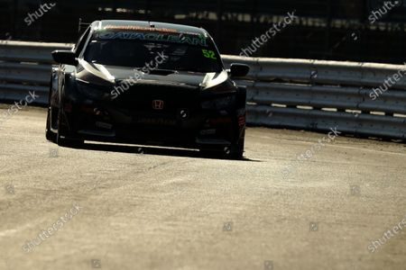 Stock Picture of SILVERSTONE CIRCUIT, UNITED KINGDOM - APRIL 22: Gordon Shedden (GBR) - Team Dynamics Honda Civic Type R during the BTCC Silverstone Media Day at Silverstone Circuit on April 22, 2021 in Silverstone Circuit, United Kingdom. (Photo by LAT Images)
