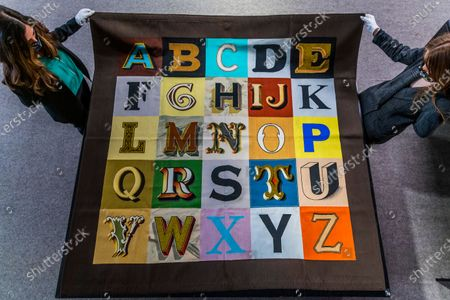 Stock Image of Sir Peter Blake R.A., Alphabet£6,000-8,000 - Preview of Bonhams' Prints and Multiples sale, at their Knightsbridge site,  which takes place on 28 Apr 2021.