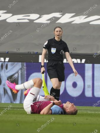 Editorial picture of West Ham United v Chelsea, Premier League, Football, The London Stadium, London, UK - 24 Apr 2021