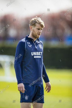 Filip Helander of Rangers training ahead of Sunday's Scottish Cup match against St Johnstone.
