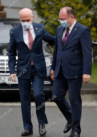 Editorial photo of Georgia's Foreign Minister David Zalkaliani arrives to join trilateral meeting of Romanian, Poland and Turkey foreign ministers meeting, Bucharest, Romania - 23 Apr 2021