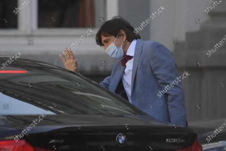 Walloon Minister President Elio Di Rupo pictured arriving for a meeting of the consultative committee with ministers of the Federal government, the regional governments and the community governments, Friday 23 April 2021 in Brussels. Measures to fight against the Covid-19 pandemy will be discussed.