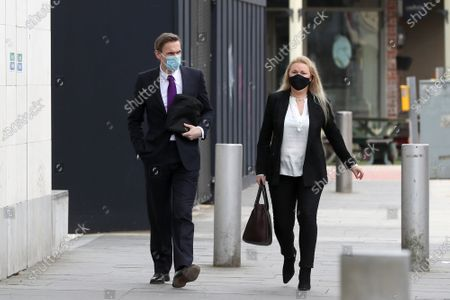 Dr Christian Jessen arrives at Belfast High Court today.