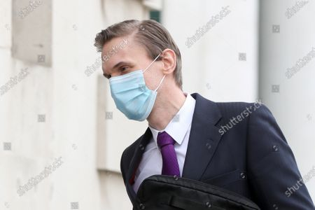 Editorial picture of Christian Jessen at Belfast High Court, Northern Ireland - 23 Apr 2021