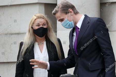 Editorial image of Christian Jessen at Belfast High Court, Northern Ireland - 23 Apr 2021