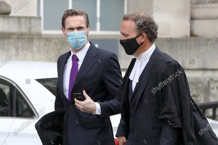 Stock Image of Dr Christian Jessen arrives at Belfast High Court today