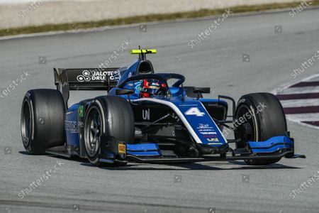 Stock Photo of 04 Felipe Drugovich from Brasil of UNI - Virtuosi Racing, action during Day One of FIA Formula 2 Testing at Circuit de Barcelona - Catalunya on April 23, 2021 in Montmelo, Spain.